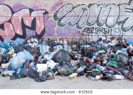 Rubbish and graffiti