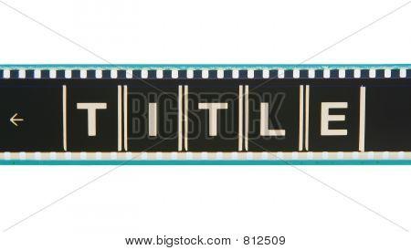 Movie Title Film Strip