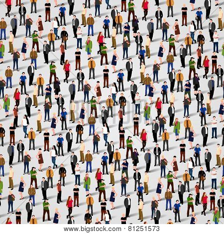 Large group of people. Seamless background