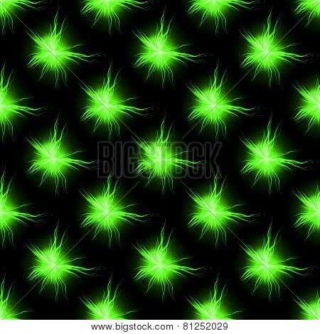 Green abstract seamless plasmatic pattern