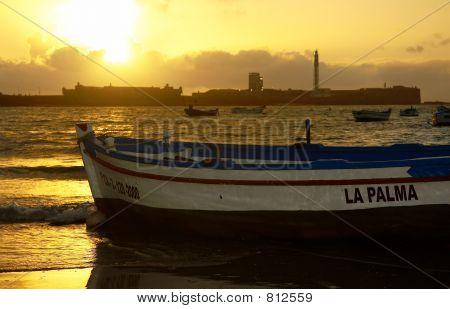 Sunset at Cadiz, Spain