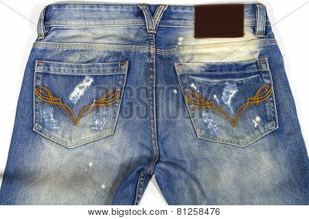 Jeans are beautifully detailed blue