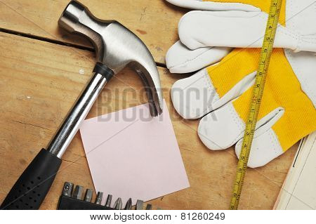 Gloves And  Tapemeasure
