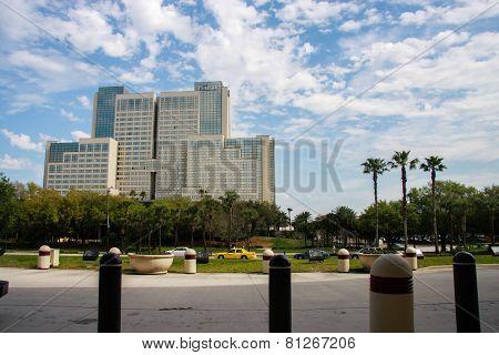 Orlando, Fl, Usa - March 10, 2008: The Peabody Hotel On International Drive In Orlando, Usa On March