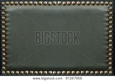 Leather Pattern With rivets,texture For Background