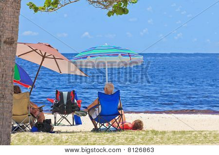 Sitting At The Beach