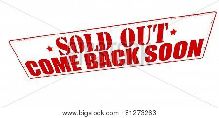 Sold Out Come Back Soon
