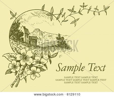 vintage card (vector)