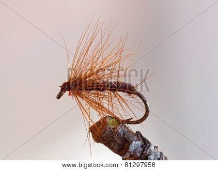 Brown Full Hackle Fly Fishing Lure