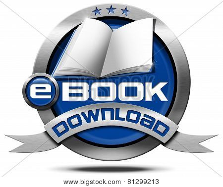 E-book Download - Metallic Icon