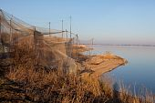 Heligoland trap in Vente Cape (Lithuania) one of the first bird ringing stations in Europe poster