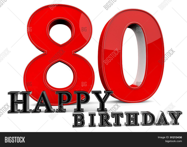 Happy 80th Birthday Image Photo Free Trial Bigstock