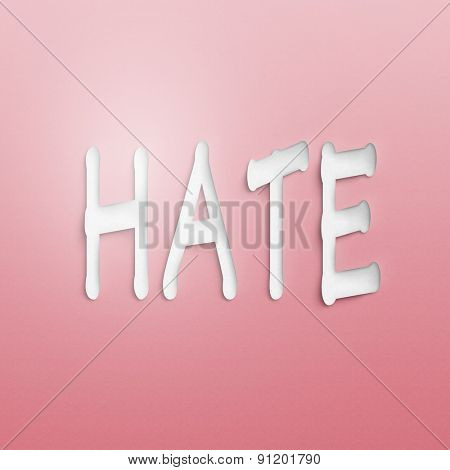 text on the wall or paper, hate