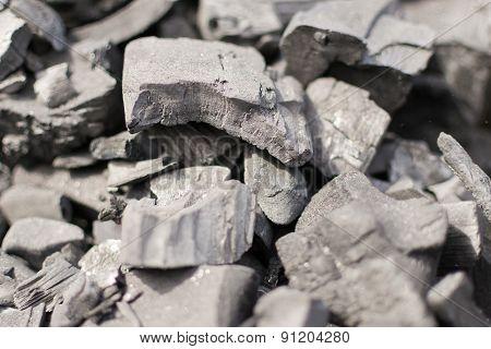 Unlit Charcoal Blocks For Bbq