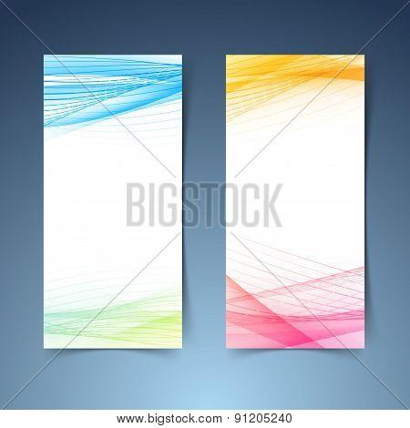 Modern Tranparent Vertical Abstract Banner Set