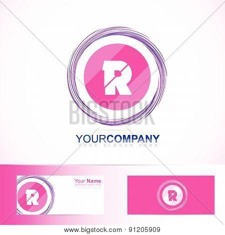 Pink letter R circle logo