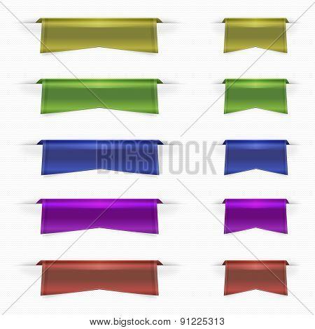 Web ribbons set