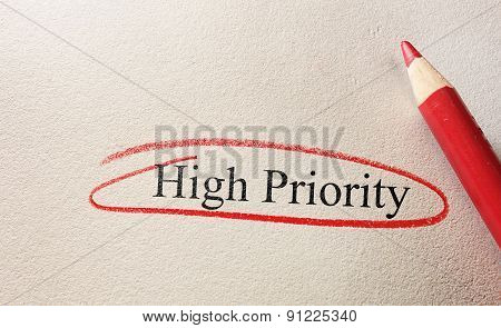 High Priority Red Circle
