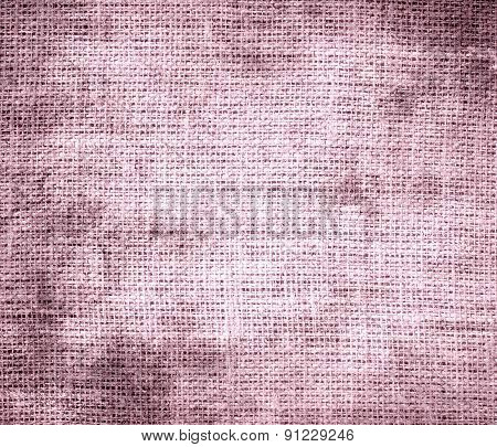 Grunge background of cameo pink burlap texture