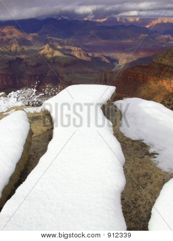 Winterscape Snow Storm Grand Canyon