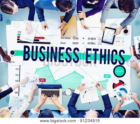 Business Ethics Working People Planning Concept