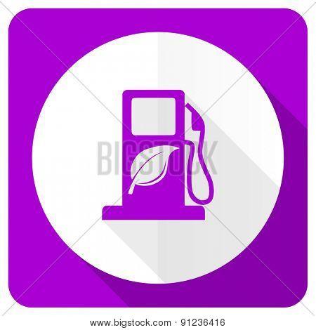 biofuel pink flat icon bio fuel sign