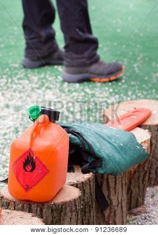 Fuel Canister For Chainsaw