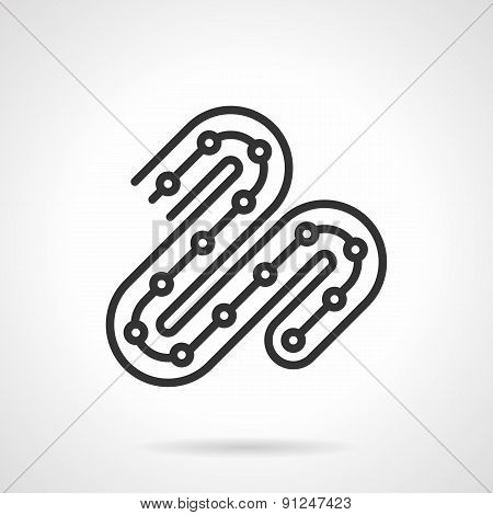 LED ribbon black line vector icon