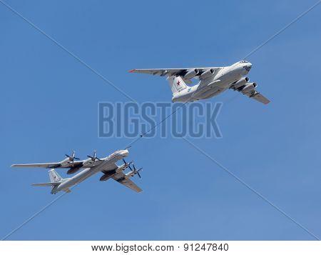 Tu-95Mc Planes And Il-78 Tanker