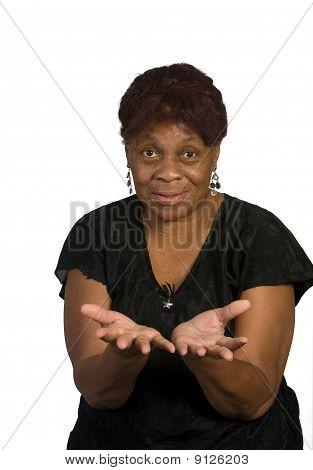 Senior Black Lady Helping Hands