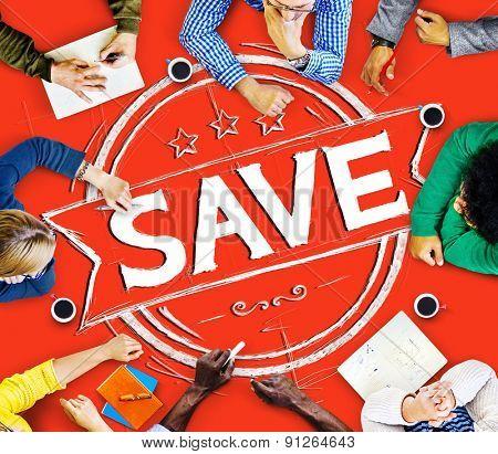 Saving Account Save Finance Money Fund Concept poster