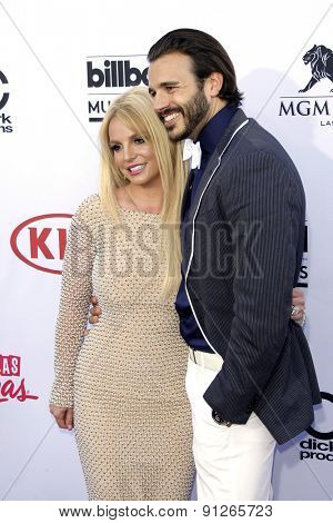 LAS VEGAS - MAY 17: Britney Spears, Charlie Ebersol at the 2015 Billboard Music Awards at the MGM Grand Garden Arena on May 17, 2015 in Las Vegas, Nevada.