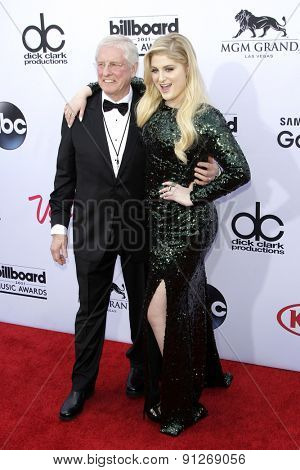 LAS VEGAS - MAY 17: Meghan Trainor, father at the 2015 Billboard Music Awards at the MGM Grand Garden Arena on May 17, 2015 in Las Vegas, Nevada.