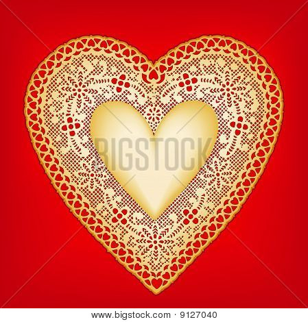 Gold Lace Heart