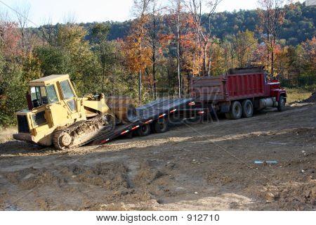 Dump Truck, Trailer And Industrial Machine