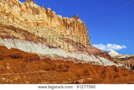 The Castle Capitol Reef Sandstone Mountain Capitol Reef National Park Torrey Utah