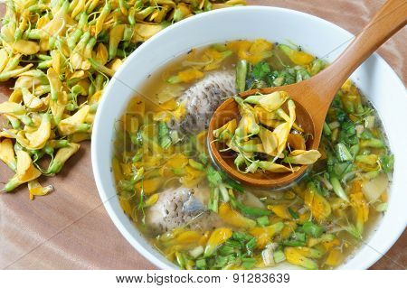 Vietnamese Food, Sour Fish Vegetable Soup