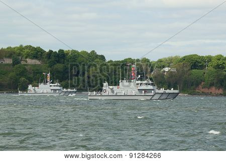 U.S. Naval Academy Yard Patrol Craft YP 703 class during parade of ships at Fleet Week