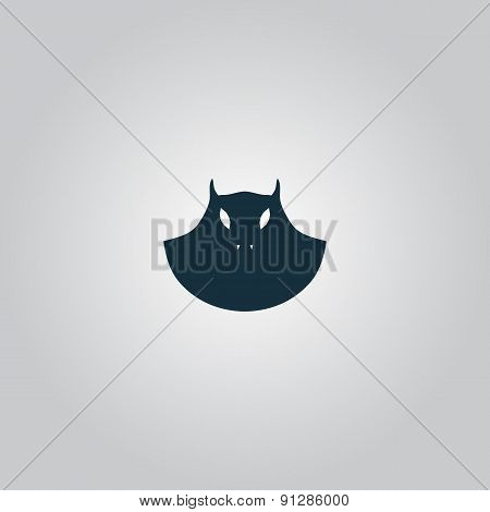 Executioner evil face mask icon