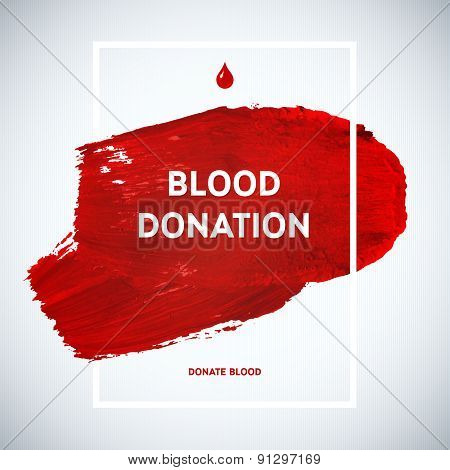 Creative Blood Donor Day motivation information donor poster. Blood Donation. World Blood Donor Day banner. Red stroke and text. Medical design elements. Grunge texture. poster