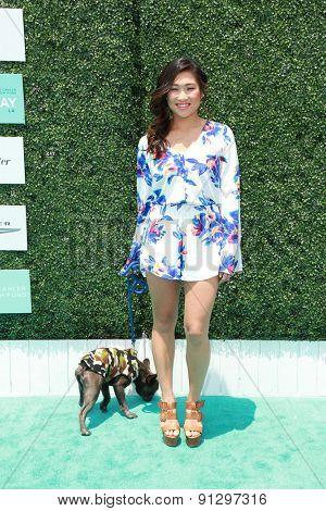 0LOS ANGELES - MAY 16:  Jenna Ushkowitz at the Super Saturday LA at the Barker Hanger on May 16, 2015 in Santa Monica, CA