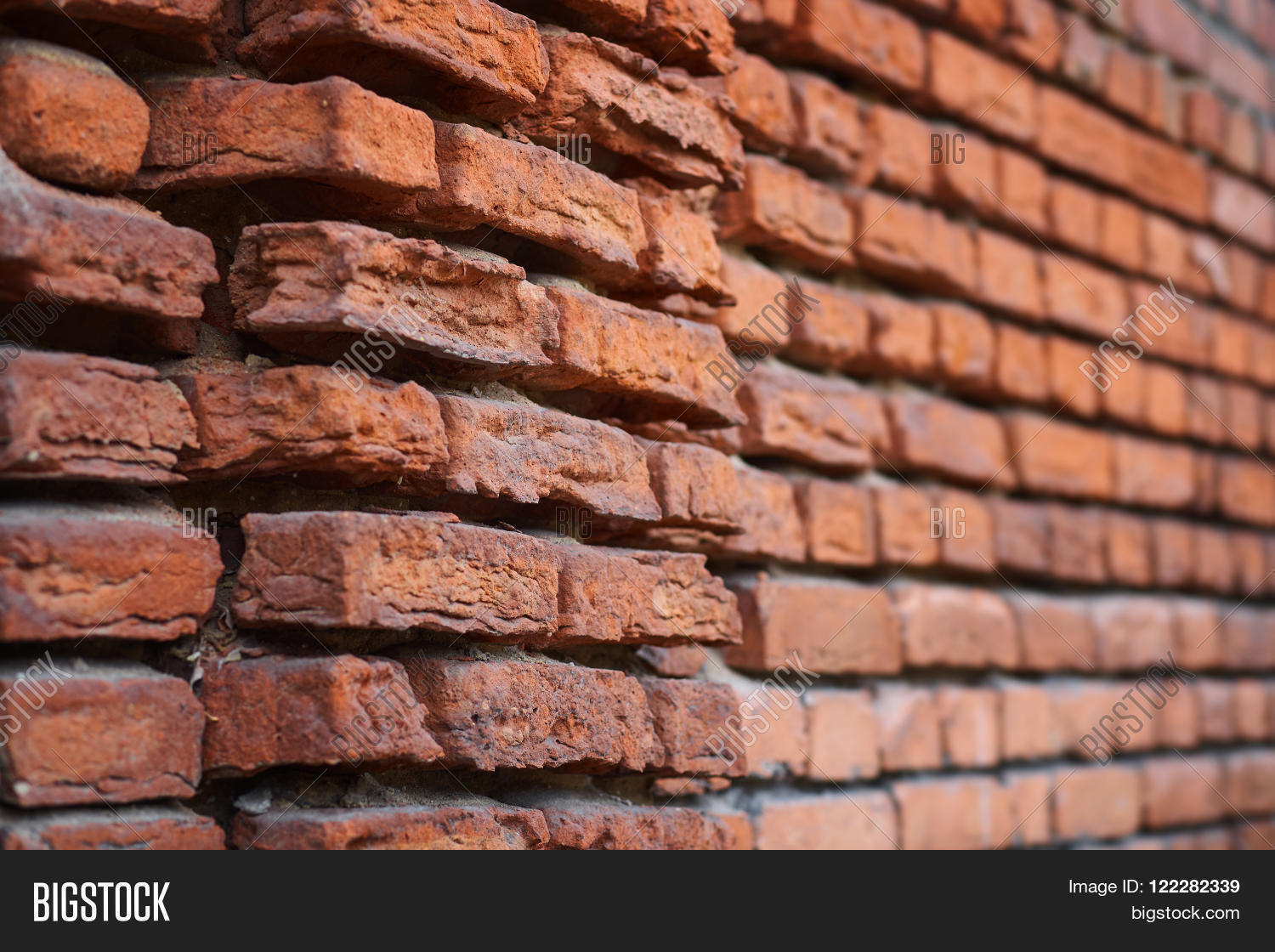 Antique Brick The Wall Of Old Building Vintage Architecture Breaking Bricks