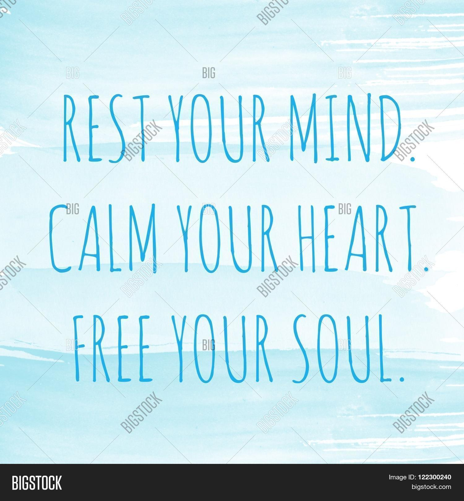 Free Your Mind Quotes Motivational Quote On Watercolor Image & Photo  Bigstock
