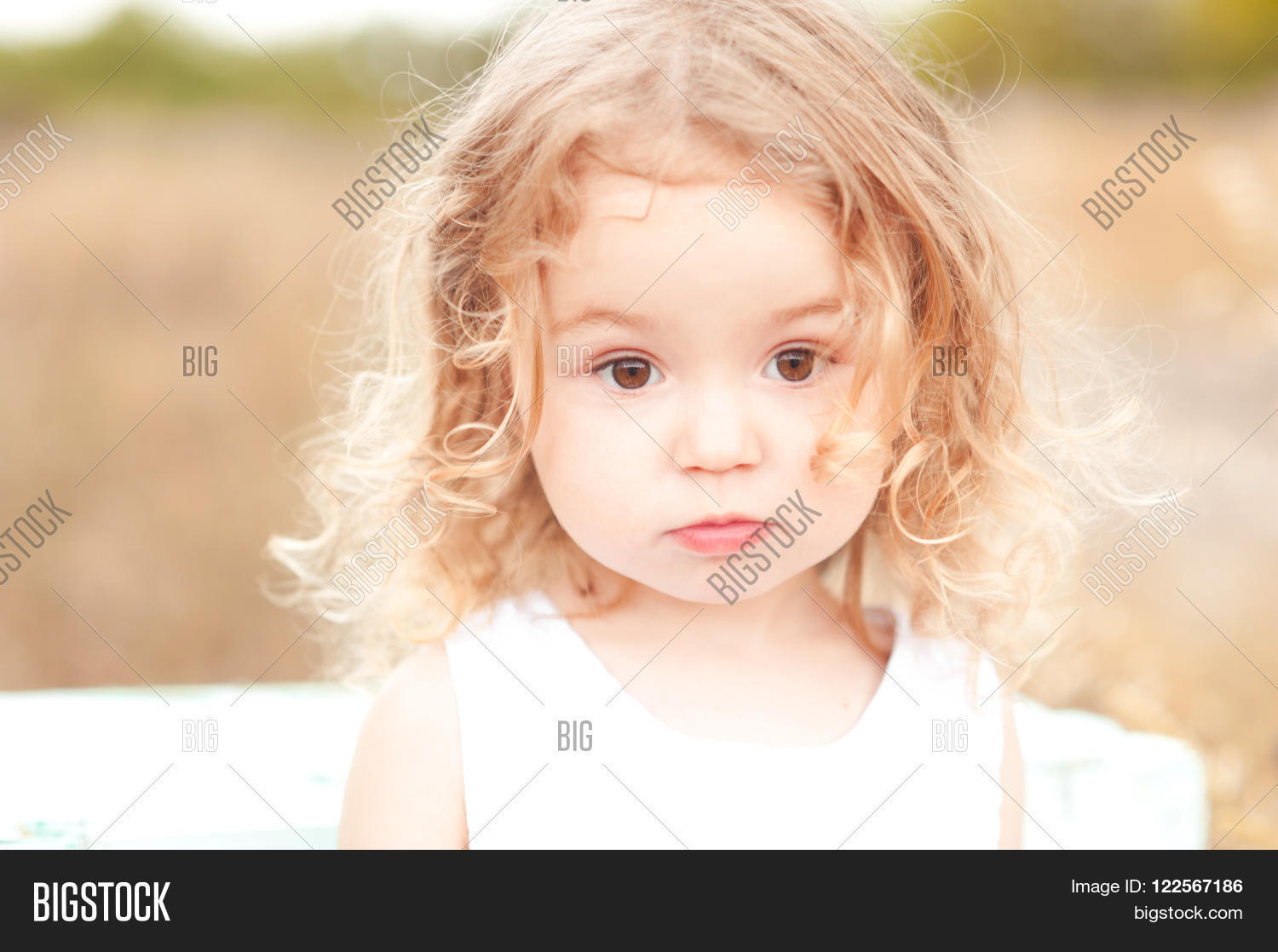 cute baby girl blonde image & photo (free trial) | bigstock