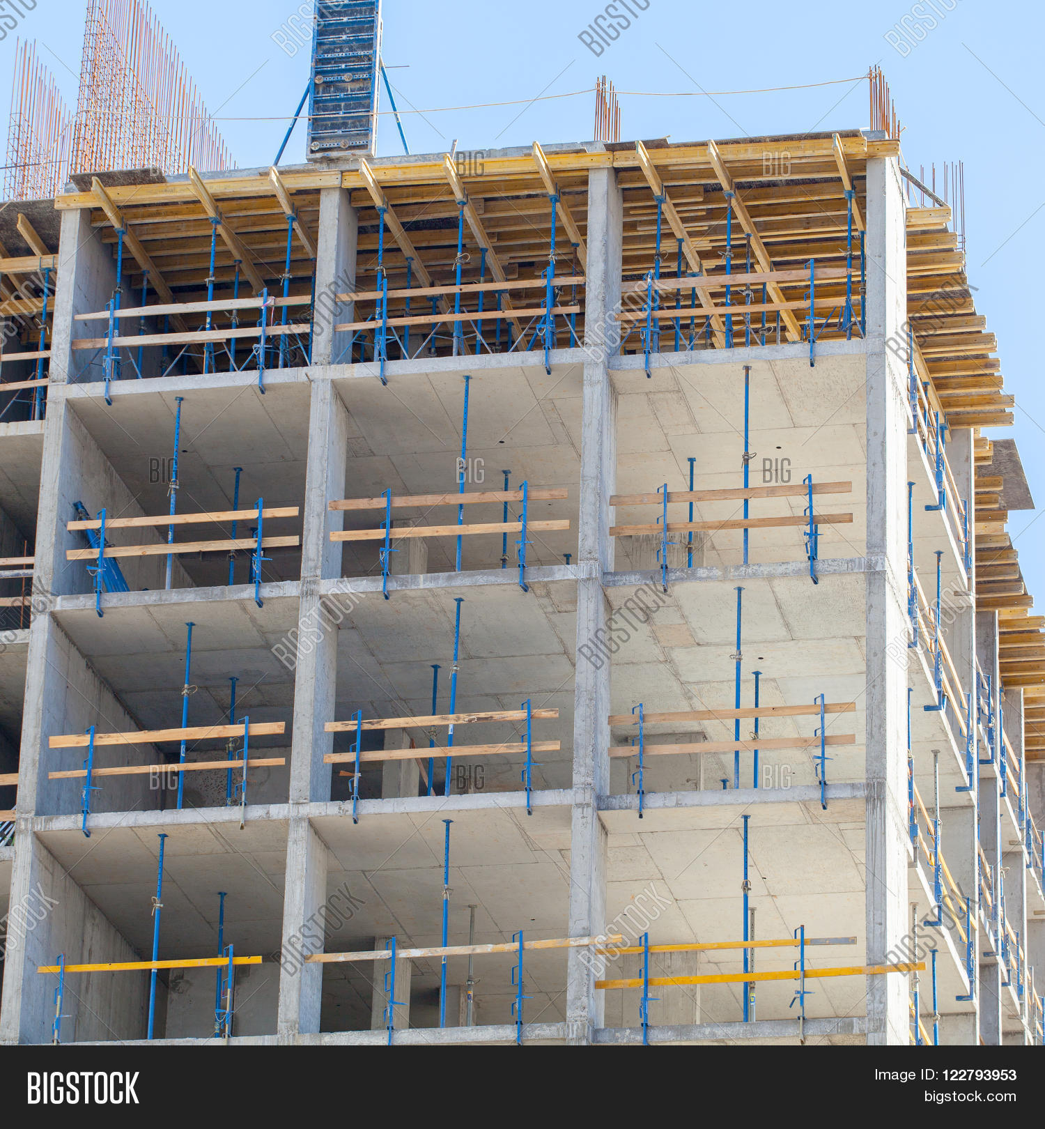 Masonry Building Framed : Monolithic frame construction image photo bigstock