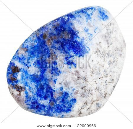 Pebble Of Lapis Lazuli Mineral Gem Stone Isolated