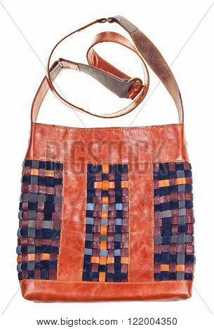 Front View Of Bag From Intertwined Leatherstrips