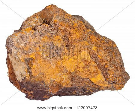 Piece Of Limonite (iron Ore) Mineral Stone