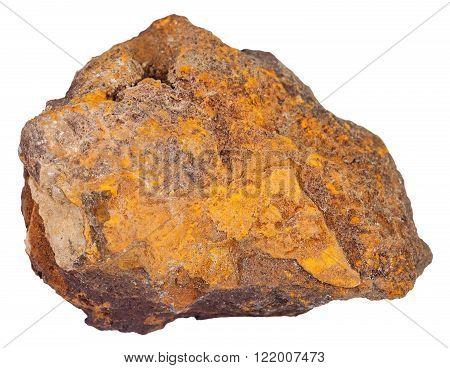Piece Of Limonite (iron Ore) Mineral Stone
