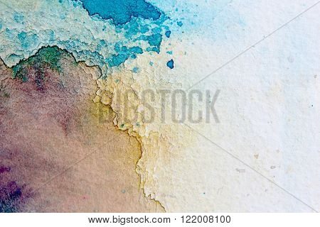 Macro Blue Yellow and Purple Watercolor 3